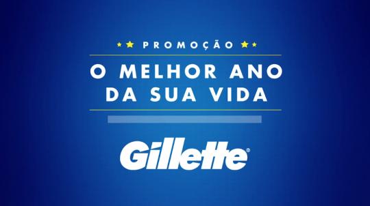 """Gillette - Promoção """"O Melhor Ano da Sua Vida"""""""